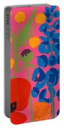 Poppy And Delphinium Portable Battery Charger