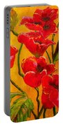 Poppy Bouquet Portable Battery Charger