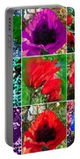 Poppy Collage Portable Battery Charger