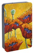 Poppy Craze By Prankearts Portable Battery Charger