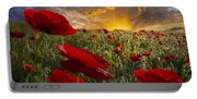 Poppy Field Portable Battery Charger