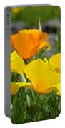 Poppy Flower Meadow 14 Poppies Orange Flowers Giclee Art Prints Baslee Troutman Portable Battery Charger