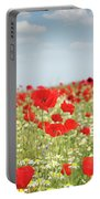 Poppy Flowers Field Nature Spring Scene Portable Battery Charger