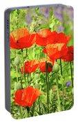Poppy Garden I Portable Battery Charger