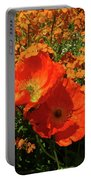 Poppy Glories Portable Battery Charger
