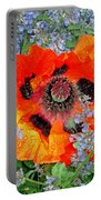 Poppy In Blue Portable Battery Charger