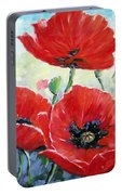 Poppy Love Floral Scene Portable Battery Charger