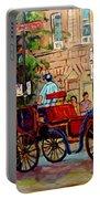 Popular Quebec Artists Carole Spandau Painter Of Scenes De Rue Montreal Street Scenes Portable Battery Charger