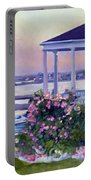 Porch At Sunet Portable Battery Charger