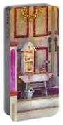 Porch - Cranford Nj - The Birdhouse Collector Portable Battery Charger by Mike Savad