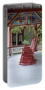 Porch With Rocking Chairs Portable Battery Charger
