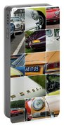 Porsche Oldtimer Collage Portable Battery Charger
