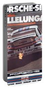 Porsche Vallelunga Vintage Racing Poster Portable Battery Charger