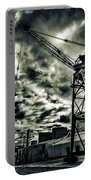 Port Crane At Dusk Portable Battery Charger