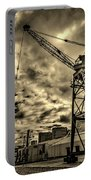 Port Crane At Sunset Portable Battery Charger