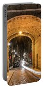 Port Dinan Archway At Night Portable Battery Charger
