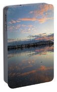 Port Of Anacortes Marina At Sunset Portable Battery Charger