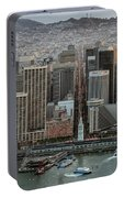 Port Of San Francisco And Downtown Financial District Portable Battery Charger