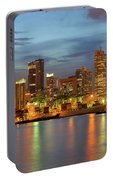 Port Of Singapore With City Skyline Portable Battery Charger