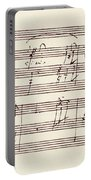 Portion Of The Manuscript Of Beethoven's Sonata In A, Opus 101 Portable Battery Charger