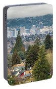 Portland City Skyline From Mount Tabor Portable Battery Charger