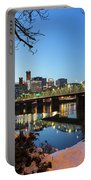 Portland Downtown Winter Night Scene Portable Battery Charger