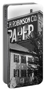 Portland, Maine - Ghost Mural Bw Portable Battery Charger