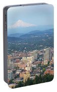 Portland Oregon Cityscape Daytime Panorama Portable Battery Charger