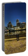 Portland Skyline View From Eastbank Esplanade Portable Battery Charger