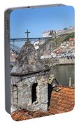 Porto And Gaia Cityscape In Portugal Portable Battery Charger