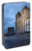 Porto Cathedral And Pillory Column In Portugal Portable Battery Charger