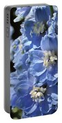Portrait Blue Delphinium 114 Portable Battery Charger