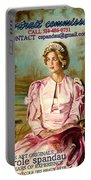Portrait Commissions By Portrait Artist Carole Spandau Portable Battery Charger
