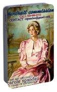 Portrait Commissions By Portrait Artist Carole Spandau Portable Battery Charger