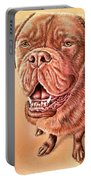 Portrait Drawing Of A Dog Portable Battery Charger