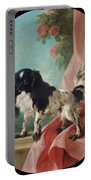 Portrait Of A Cavalier King Charles Spaniel Portable Battery Charger