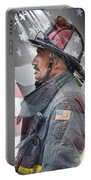 Portrait Of A Fire Fighter Portable Battery Charger
