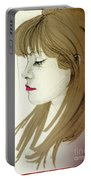 Portrait Of A Lovely Young Woman Portable Battery Charger