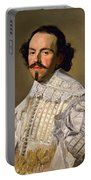 Portrait Of A Gentleman In White Portable Battery Charger