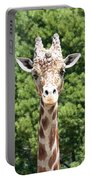 Portrait Of A Giraffe Portable Battery Charger