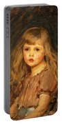 Portrait Of A Girl Portable Battery Charger by John William Waterhouse