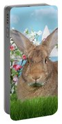 Portrait Of A Gregarious Brown Bunny Portable Battery Charger