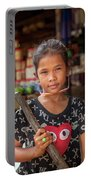 Portrait Of A Khmer Girl - Cambodia Portable Battery Charger