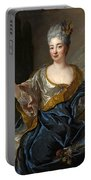 Portrait Of A Lady Three-quarter-length Holding Flowers Portable Battery Charger