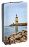Portrait Of A Lighthouse Portable Battery Charger