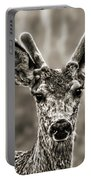 Portrait Of A Male Deer II Portable Battery Charger