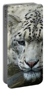Portrait Of A Snow Leopard Portable Battery Charger