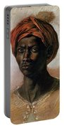 Portrait Of A Turk In A Turban Portable Battery Charger by Ferdinand Victor Eugene Delacroix