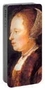 Portrait Of A Woman 1640 Portable Battery Charger