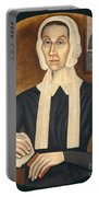 Portrait Of A Woman Portable Battery Charger